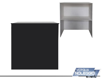 Desk per stand, personalizzabile, in versione senza sportelli