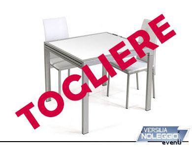 Tavolo vetro e metallo 80x80